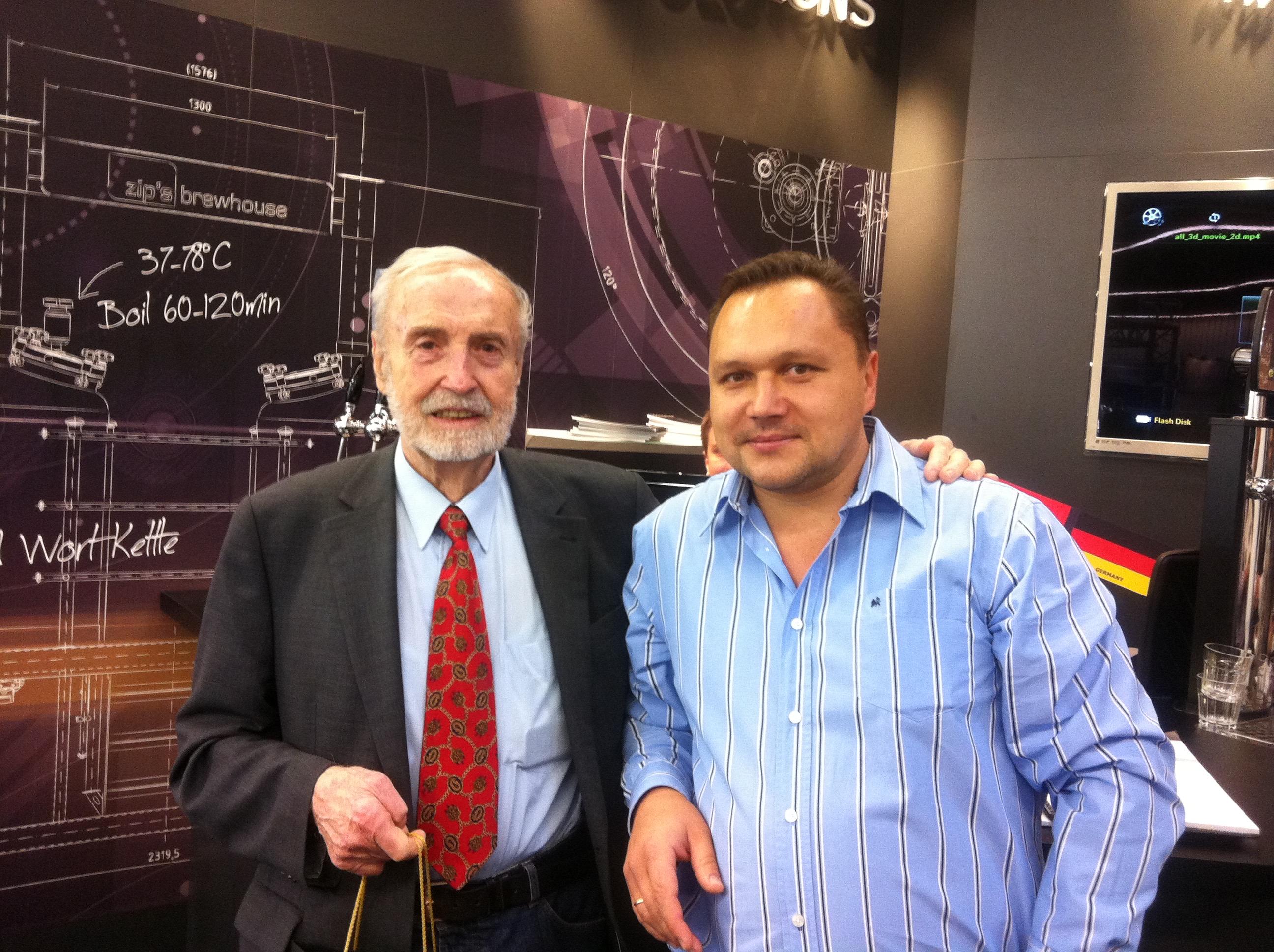 На выставке в Нюрнберге с автором библии пивоваров «Технология солода и пива» Вольфгангом Кунце